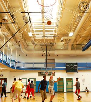 BLOCK participants playing basketball at the Summit